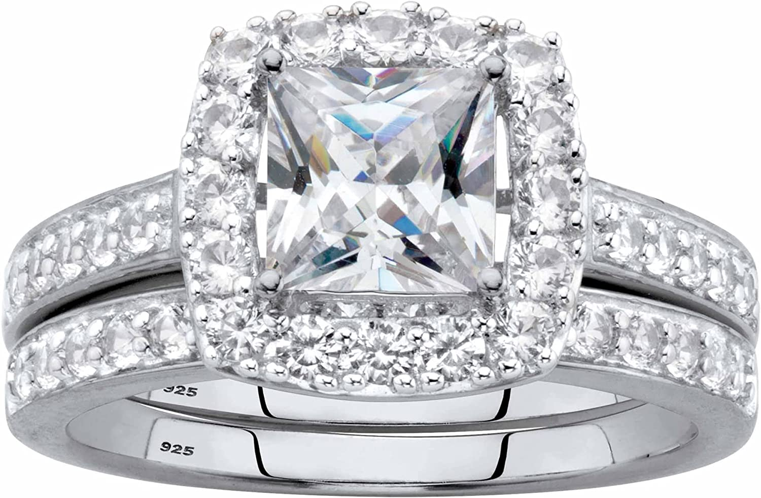 18K Gold-Plated or Platinum-Plated Cut Opening large release sale Sterling Max 49% OFF Silver Princess