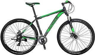Eurobike X9 Aluminum Frame Mountain Bike 21 Speed Shifting System 29 Inches Regular Spoke Wheels Dual Disc Brake Bicycle