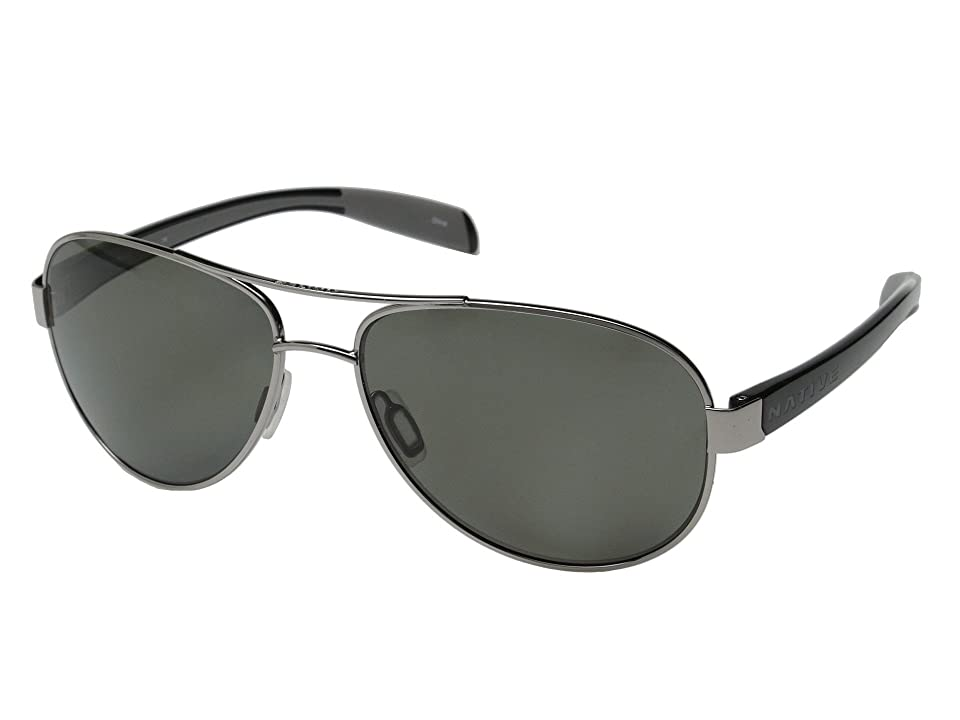 Native Eyewear Patroller (Chrome/Iron/Gray) Sport Sunglasses