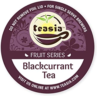 Teasia Brand Tea Pods, Black Currant, Fruit Series, 36-count All Natural GMO-free Hot & Iced Tea Single Serve Capsules for Keurig Brewers