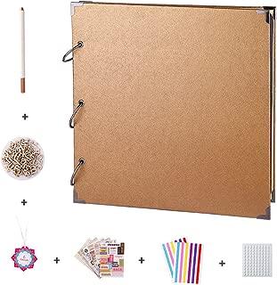 FaCraft Scrapbook Album with Scrapbooking Supplies (11x11 Gold)