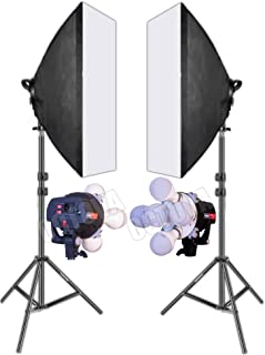 OCTOVA Simpex PRO HD LED LITE 5 Soft Led Video Light Softbox Kit (2) with AC Power | Light Stand | for YouTube Videos Shooting, Videography, Portrait,Product Photography,Studio Lights for Photography