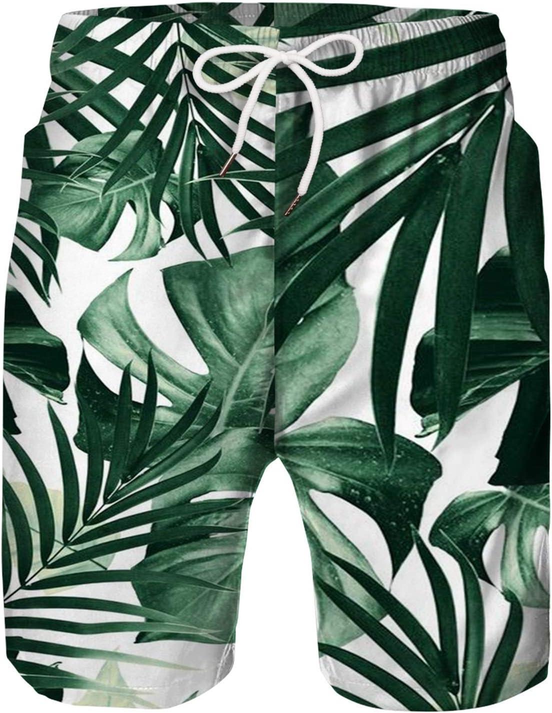 Board Shorts Mens, Mens Swim Shorts,Parent-Child Wear, Leisure Shorts,Breathable Mesh Quick Dry (Color : D, Size : Adult-Medium)