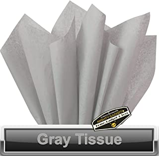 """100 pc Mighty Gadget (R) Gray Tissue Wrapping Paper - 15"""" x 20"""""""
