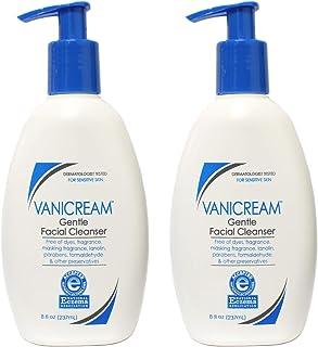 Vanicream Gentle Facial Cleanser for Sensitive Skin, 8 fl oz pack of 2
