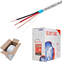Cables Direct Online, Bulk 18/2 Shielded Stranded Conductor Alarm Control Cable 500ft Fire/Security Burglar Station Wire Security (Shielded (FTP), 18/2, Stranded, 500ft)