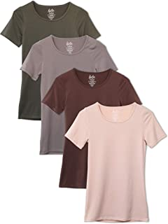 Women's 4-Pack Scoop Neck T-Shirt Base Layer