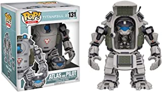 Funko Atlas & Pilot: Titanfall 2 x Deluxe POP! Games Vinyl Figure + 1 Video Games Themed Trading Card Bundle [#131 / 00013]