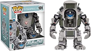 Funko Atlas & Pilot: Titanfall 2 x Deluxe POP! Games Vinyl Figure + 1 Video Games Themed Trading Card Bundle [#131 / 00013]