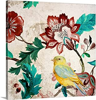 Bird of Capri II Canvas Wall Art Print, 24