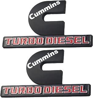 2 Pack Cummins Turbo Diesel Emblems, Badges High Output Nameplate Replacement Sticker for RAM 2500 3500 Fender Emblem Mopar (Black)