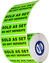 "Sold as a Set Do Not Separate Labels Stickers by Kenco 3"" X 1"" Fluorescent Green FBA Labels Shipping Labels (1 Pack (500))"
