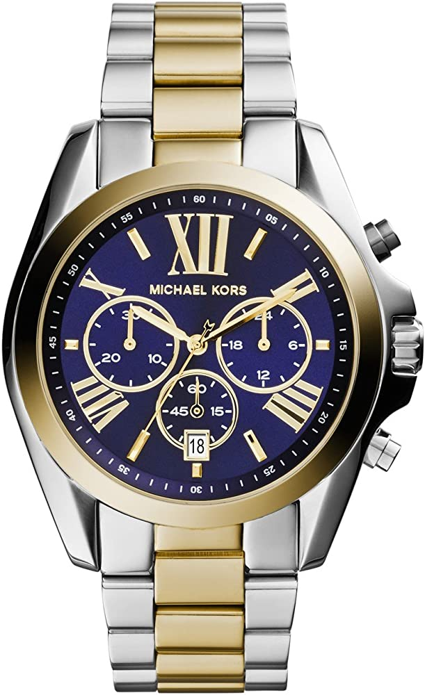 Michael kors, cronografo, orologio da donna, in acciaio inossidabile multicolore MK5976