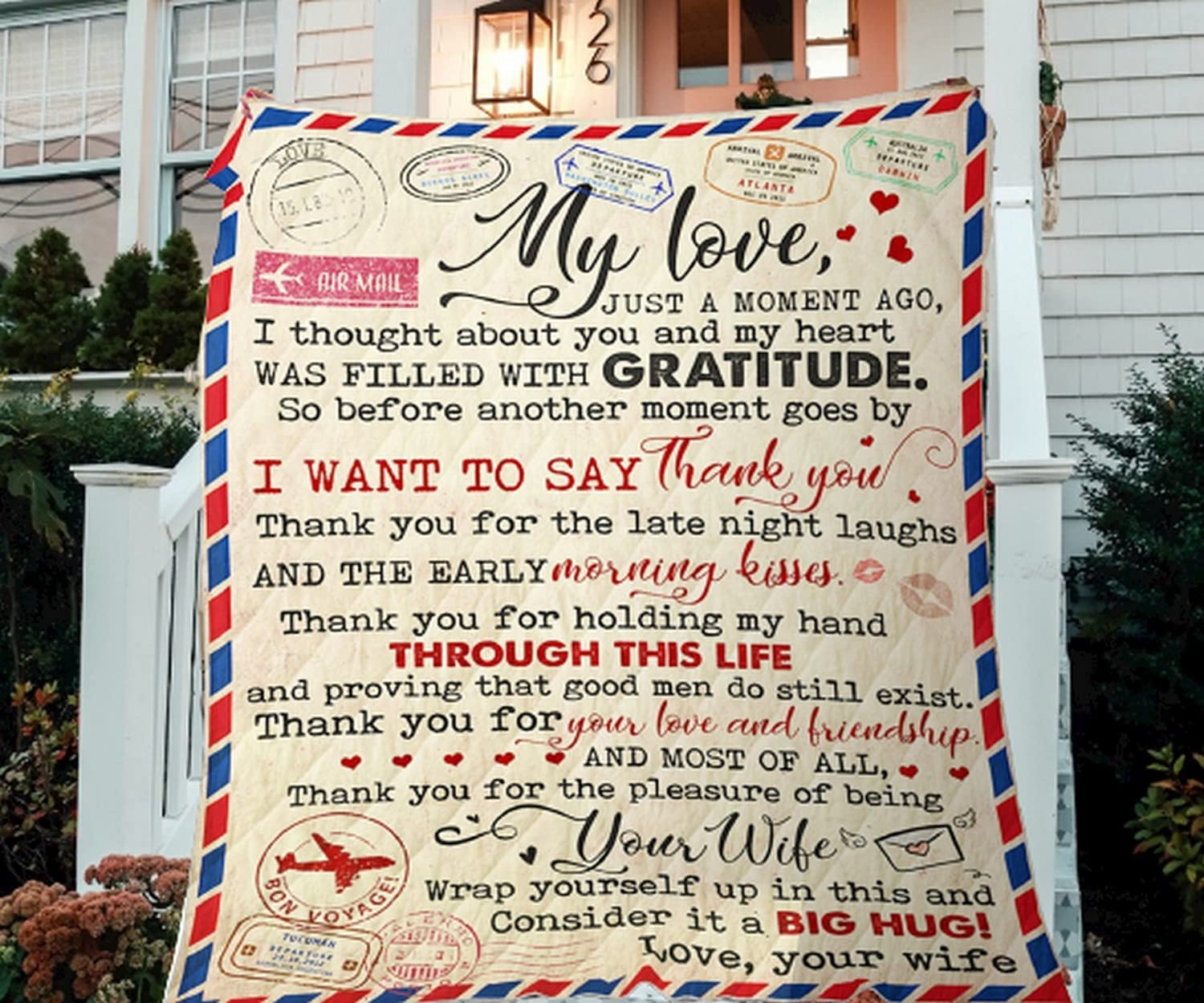 To My Boston Mall Popular brand in the world Husband Throw Blanket Flannel Soft Bedsp Super Lightweight