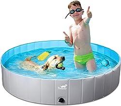 Toozey Foldable Dog Pool, Portable PVC Pet Swimming Pool, Slip-Resistant Material Kiddie Pool, Dog Pet Bath Pool for Small...