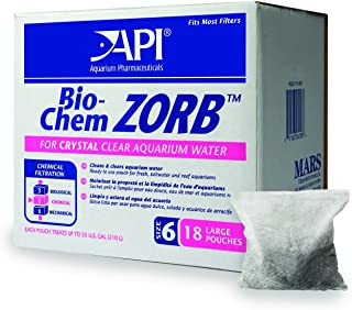 API BIO-CHEM ZORB SIZE 6 Aquarium Canister Filter Filtration Pouch 18-Count Bag