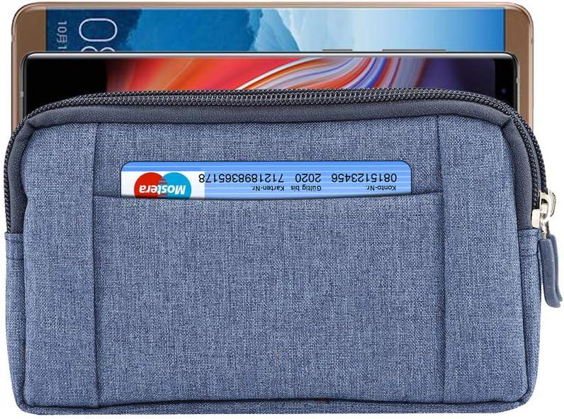 Men Denim Cellphone Holster Belt Clip Loop Pouch Case for Samsung Galaxy S8 Plus / S10 / S9 Plus/Note 9 / M20 / M30 / LG V50 / V40 ThinQ / G7 / Moto G7 Plus/Google Pixel 3 XL/OnePlus 6 / 6T(Blue