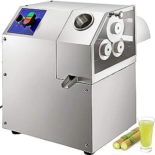 Machabeau 750W Machine de Canne à Sucre Electrique Presse pour Canne à Sucre Equipée de 3 Rouleaux