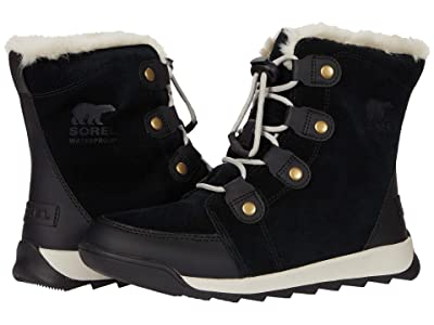 SOREL Kids Whitneytm II Suede (Toddler/Little Kid/Big Kid) (Black) Kids Shoes