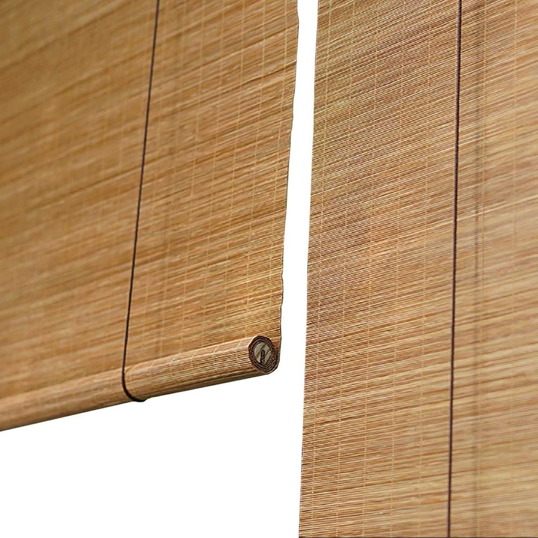 echa un vistazo a los más baratos LXLA - Persianas Persianas Persianas enrollables de Madera - 60% persianas de bambú con Cortina Solar, persianas de projoección Solar para Patio pabellón Corrojoor - Color Paja (Tamao   W60cm X H100cm)  sorteos de estadio