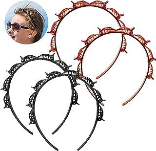 YifKoKo 4PCS Hair Styling Aid Cerchietto con clip Forcine per capelli Forniture per parrucchieri Accessori per capelli Cer...