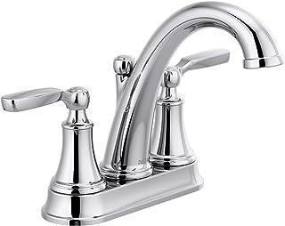 Delta Faucet 2532LF-TP Woodhurst Bathroom Faucet Centerset, Chrome