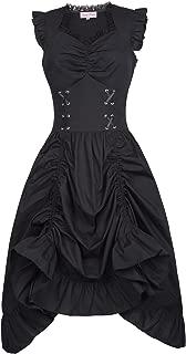 Belle Poque Steampunk Gothic Victorian Ruffled Dress Sleeveless