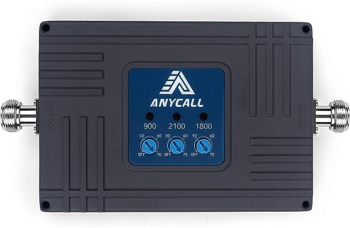ANYCALL Amplificador Cobertura Movil 2G/3G/4G 5-Banda Repetidor de Señal Movil Mejorar la Red y Llamar 800/900/1800/2100/2600MHz para ...