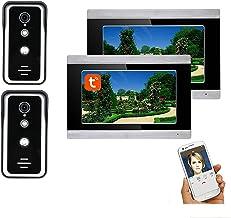 7 Inch Video Deurtelefoon Systeem, Wifi Video Deurbel, 2 Outdoor Nachtzicht Camera + 2 Monitor, Tuya APP Unlock, Intercom