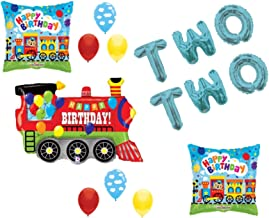 Chugga Chugga Two Two Train 2nd Birthday Party Balloons Decoration Supplies Second