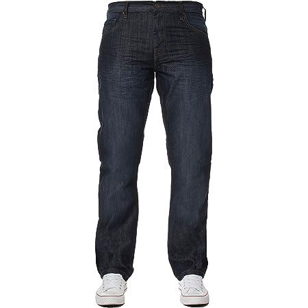 New Mens Enzo Regular Fit Straight Denim Blue Jeans Pants All Waist Sizes Indigo 30 W X34L
