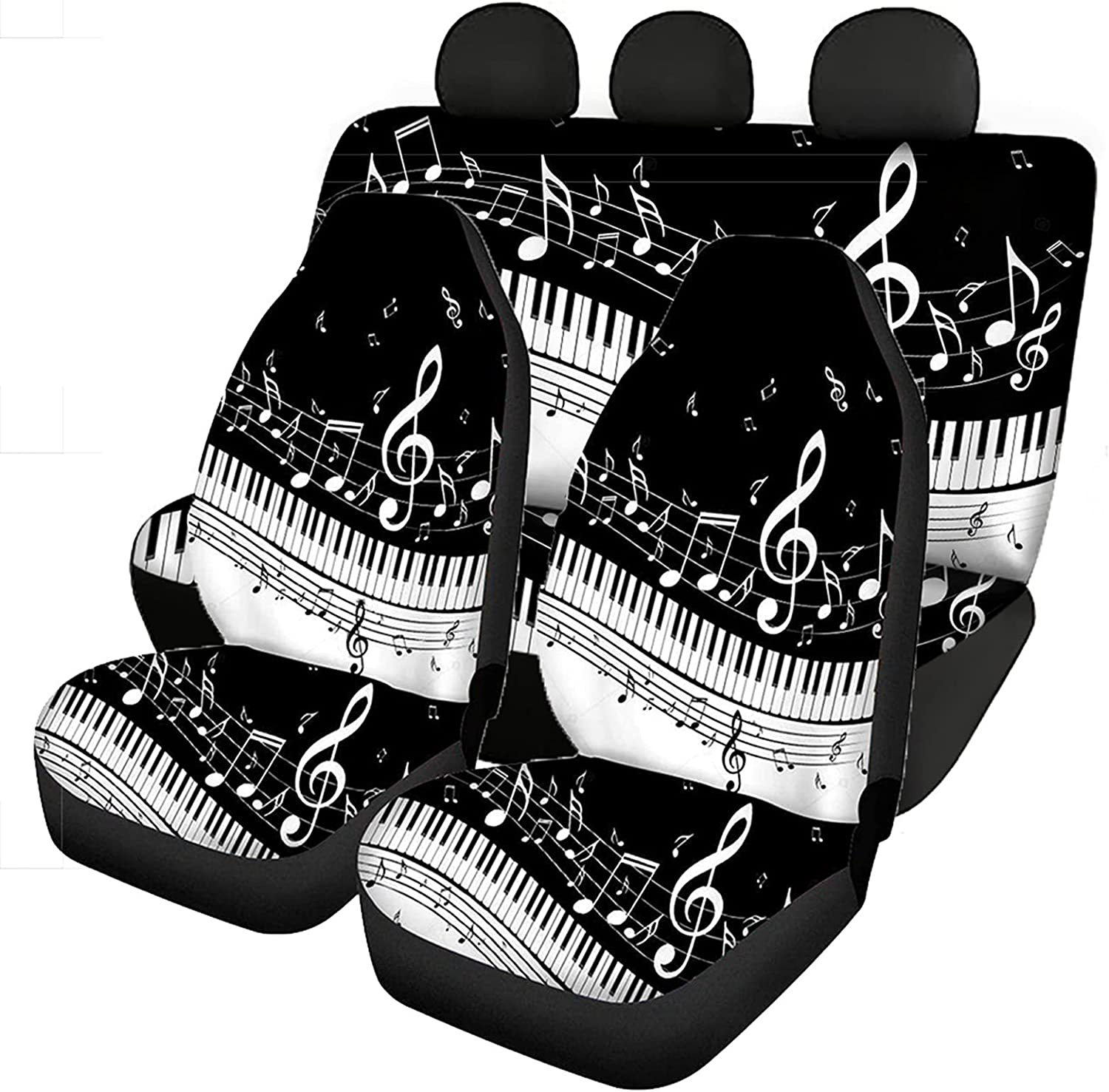 Tobiunik Piano with Music Notes Finally resale start Design Cheap super special price Universal Car Co Fit Seat