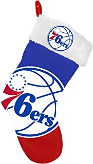 FOCO NBA Philadelphia 76ers Team Logo Plush Holiday StockingTeam Logo Plush Holiday Stocking, Team Color, One Size