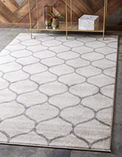 grey and white herringbone rug