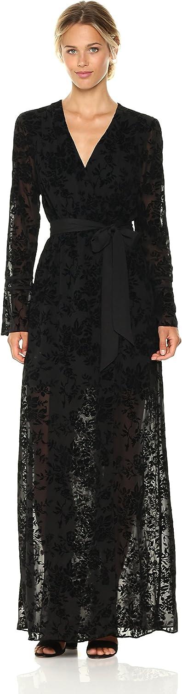 BCBGeneration Womens Faux Wrap Long Dress Dress