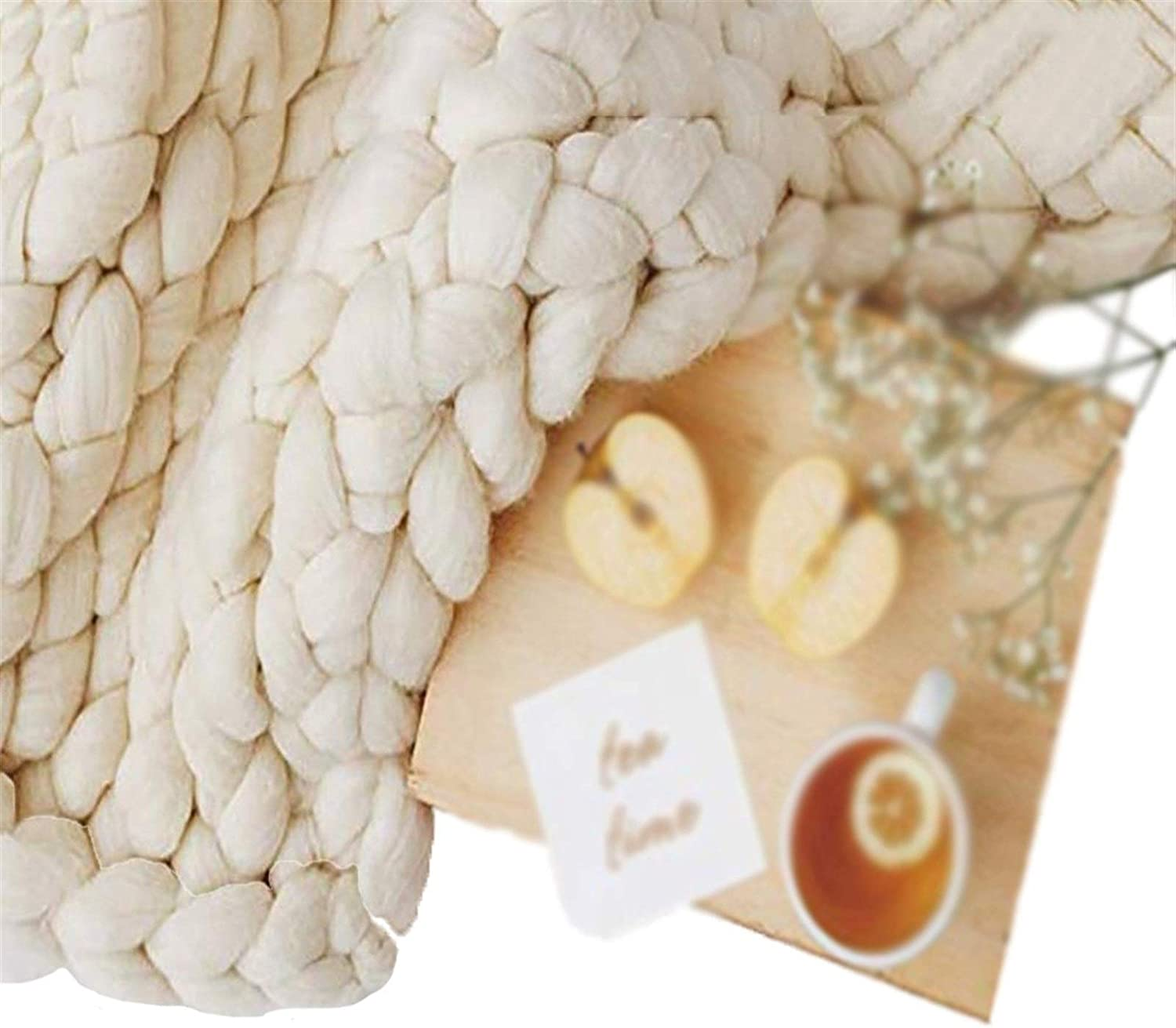 ZCXBHD Chunky Max 75% OFF Knitted Blanket Throw Free shipping on posting reviews fo Knit Cable