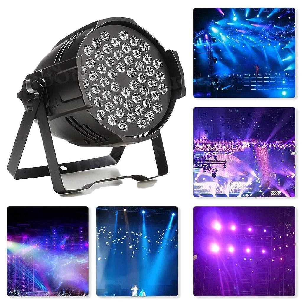億教義位置するGedady Ledパーはディスコライト54W 18LED DMX512 LEDステージライト紫外線ブラックライト7つの照明モードグローパーティーシアターDJステージ照明用の活性化IRリモートコントロールで暗闇で輝きます