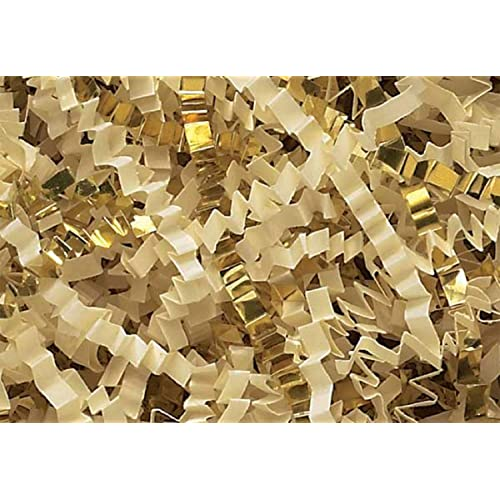 Crinkle Cut Paper Shred Filler (1/2 LB) for Gift Wrapping & Basket