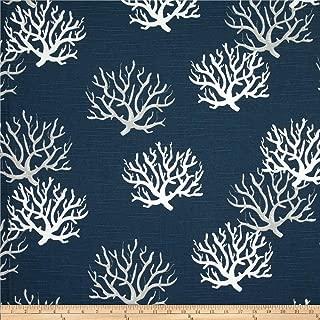Premier Prints Isadella Coral Slub Fabric, Premier Navy