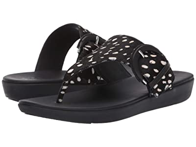FitFlop Annelia Buckle Toe Thong (Black) Women