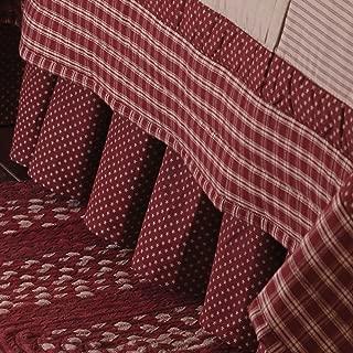 Park Designs Sturbridge Patch King Bed Skirt - Wine
