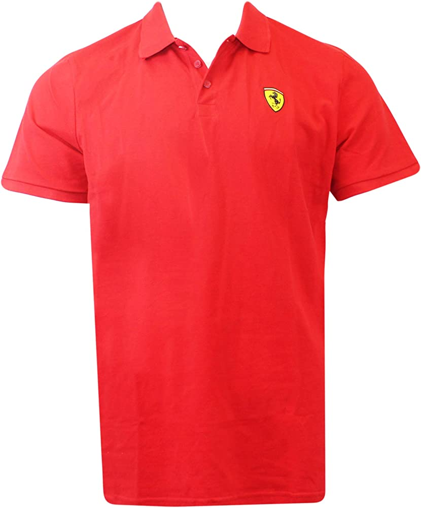 Ferrari sf herren poloshirt t-shirt maglietta per uomo a maniche corte 100% cotone