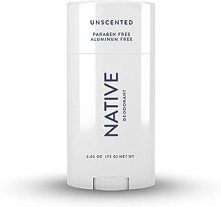 Native Deodorant - Natural Deodorant - Vegan, Gluten Free, Cruelty Free - Free of Aluminum, Parabens & Sulfates - Born in the USA - Unscented