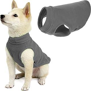 "Gooby - Stretch Fleece Vest, Pullover Fleece Vest Jacket Sweater for Dogs, Gray, Medium Length (11"")"