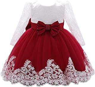 Best Christening Lace Flower Baby Girl Dress Princess Formal Prom Tutu Ball Gown Review