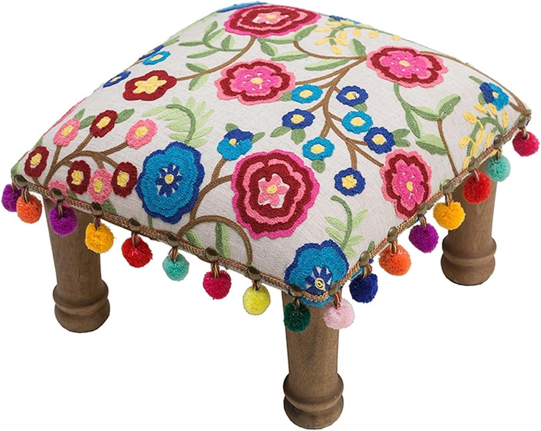 Jacksonville Mall DALIZHAI777 Ottoman Footstool Square Popular standard Handmade Stool Footrest Thr