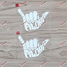 3S MOTORLINE 2X Reflective 4 Diver Down Flag Dive Shaka Hang Loose Scuba Decal Sticker Vinyl Hawaii