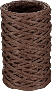Floral Wire Vine Wire Bind Wire Rustic Wire Wrapping Wire for Flower Bouquets (Dark Brown, 65 Feet)