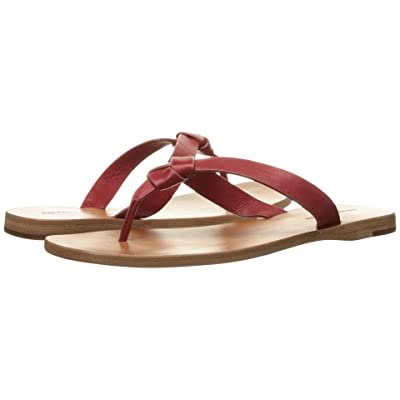 Frye Perry Knot Thong (Red Soft Vintage Leather) Women