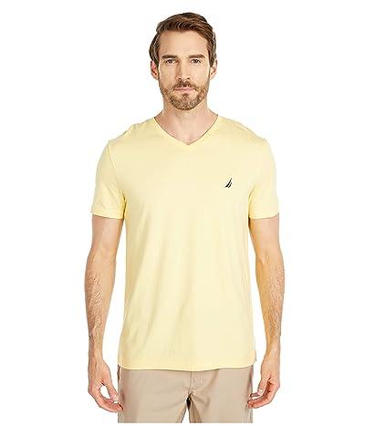 Nautica Short Sleeve V-Neck Tee (Yellow) Men